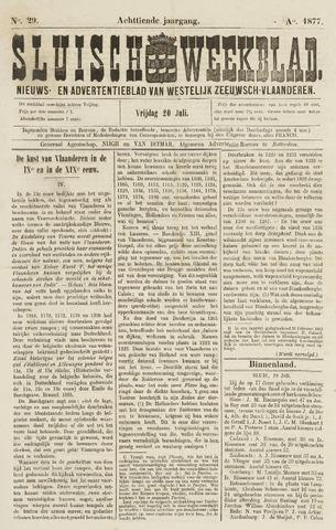 Sluisch Weekblad. Nieuws- en advertentieblad voor Westelijk Zeeuwsch-Vlaanderen 1877-07-20