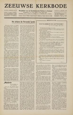 Zeeuwsche kerkbode, weekblad gewijd aan de belangen der gereformeerde kerken/ Zeeuwsch kerkblad 1956-03-02
