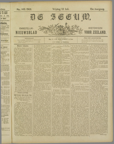 De Zeeuw. Christelijk-historisch nieuwsblad voor Zeeland 1901-07-12