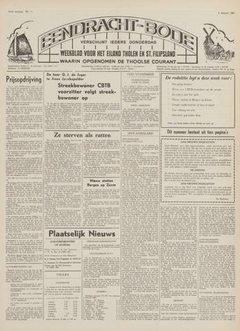 Eendrachtbode (1945-heden)/Mededeelingenblad voor het eiland Tholen (1944/45) 1969-02-06
