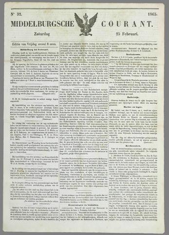 Middelburgsche Courant 1865-02-25