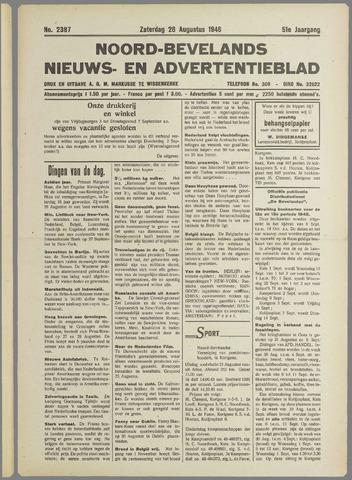 Noord-Bevelands Nieuws- en advertentieblad 1948-08-28