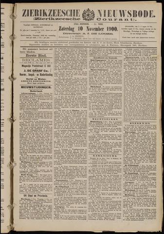 Zierikzeesche Nieuwsbode 1900-11-10