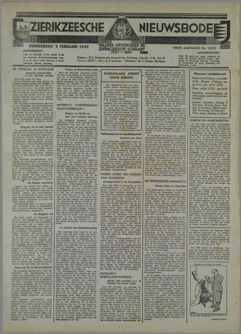 Zierikzeesche Nieuwsbode 1942-02-05