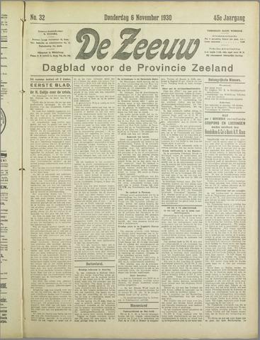 De Zeeuw. Christelijk-historisch nieuwsblad voor Zeeland 1930-11-06