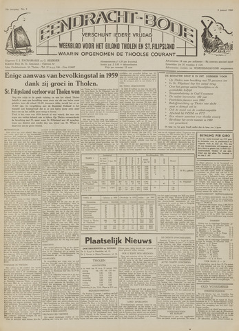Eendrachtbode (1945-heden)/Mededeelingenblad voor het eiland Tholen (1944/45) 1960