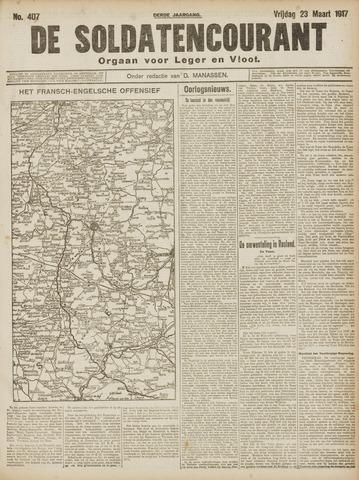 De Soldatencourant. Orgaan voor Leger en Vloot 1917-03-23