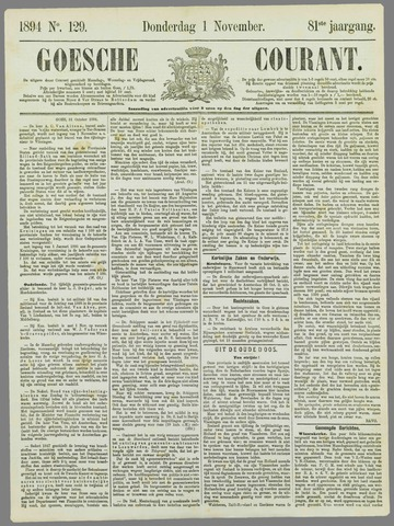 Goessche Courant 1894-11-01