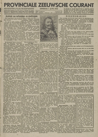 Provinciale Zeeuwse Courant 1943-06-01