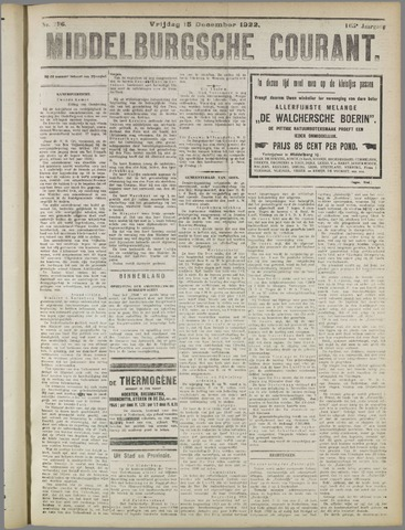 Middelburgsche Courant 1922-12-15