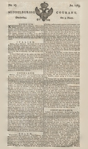 Middelburgsche Courant 1763-03-03