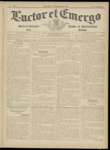 Luctor et Emergo. Antirevolutionair nieuws- en advertentieblad voor Zeeland / Zeeuwsch-Vlaanderen. Orgaan ter verspreiding van de christelijke beginselen in Zeeuwsch-Vlaanderen 1917-09-08