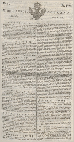 Middelburgsche Courant 1771-05-07