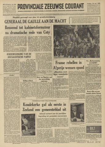 Provinciale Zeeuwse Courant 1958-05-30