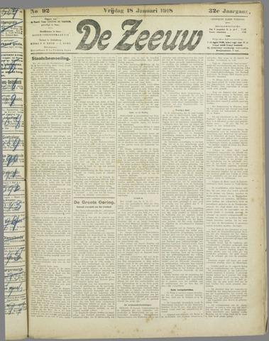 De Zeeuw. Christelijk-historisch nieuwsblad voor Zeeland 1918-01-18