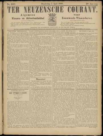 Ter Neuzensche Courant. Algemeen Nieuws- en Advertentieblad voor Zeeuwsch-Vlaanderen / Neuzensche Courant ... (idem) / (Algemeen) nieuws en advertentieblad voor Zeeuwsch-Vlaanderen 1898-04-07
