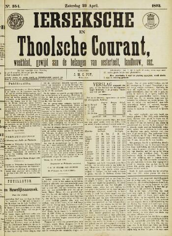 Ierseksche en Thoolsche Courant 1892-04-23