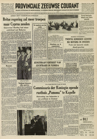 Provinciale Zeeuwse Courant 1956-01-14