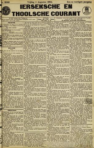 Ierseksche en Thoolsche Courant 1924-08-01