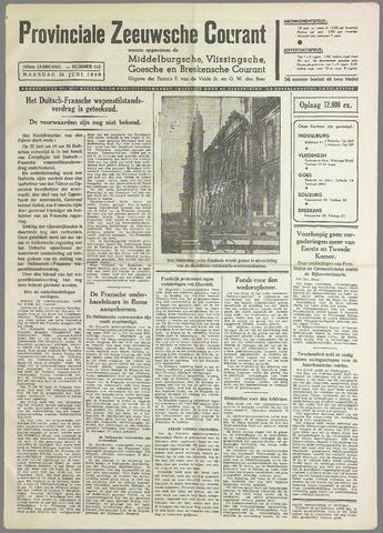 Provinciale Zeeuwse Courant 1940-06-24