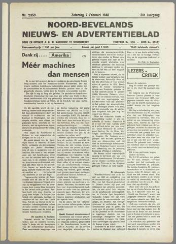 Noord-Bevelands Nieuws- en advertentieblad 1948-02-07