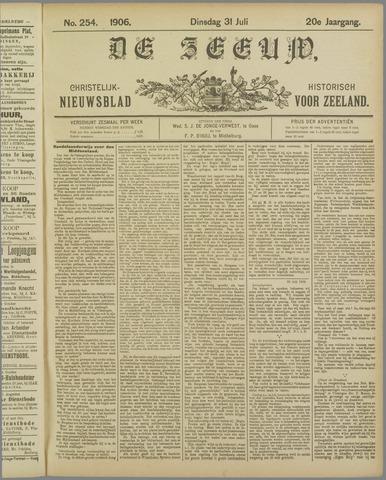 De Zeeuw. Christelijk-historisch nieuwsblad voor Zeeland 1906-07-31