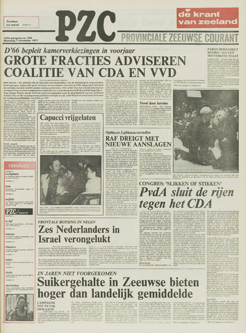 Provinciale Zeeuwse Courant 1977-11-07