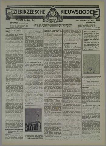 Zierikzeesche Nieuwsbode 1942-07-24