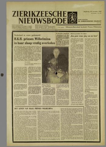 Zierikzeesche Nieuwsbode 1962-11-29