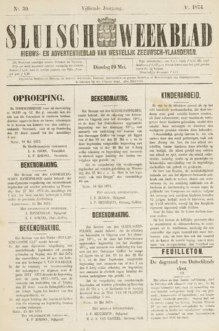 Sluisch Weekblad. Nieuws- en advertentieblad voor Westelijk Zeeuwsch-Vlaanderen 1874-05-19