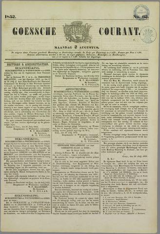 Goessche Courant 1852-08-02