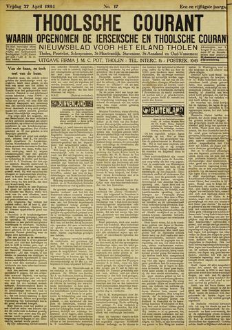 Ierseksche en Thoolsche Courant 1934-04-27