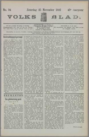 Volksblad 1922-11-25