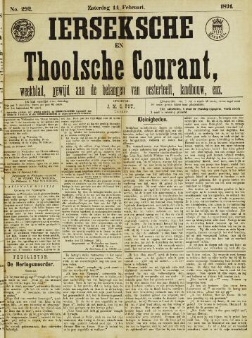Ierseksche en Thoolsche Courant 1891-02-14