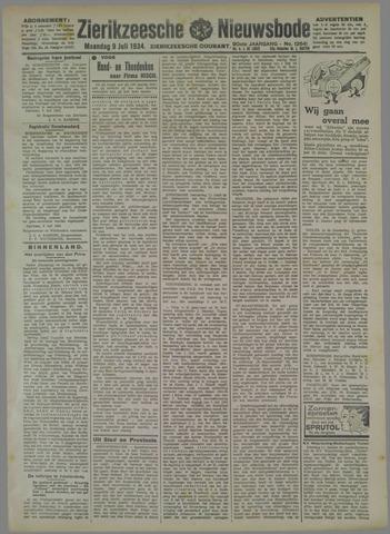 Zierikzeesche Nieuwsbode 1934-07-09