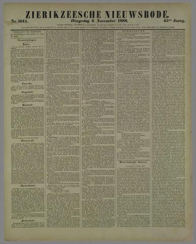 Zierikzeesche Nieuwsbode 1888-11-06