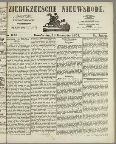 Zierikzeesche Nieuwsbode 1851-12-18