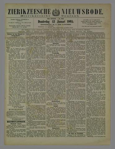 Zierikzeesche Nieuwsbode 1905-01-12