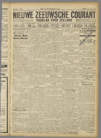 Nieuwe Zeeuwsche Courant 1922-08-26