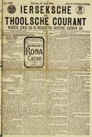 Ierseksche en Thoolsche Courant 1912-04-13