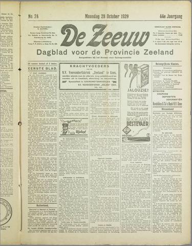 De Zeeuw. Christelijk-historisch nieuwsblad voor Zeeland 1929-10-28