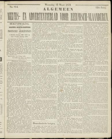 Ter Neuzensche Courant. Algemeen Nieuws- en Advertentieblad voor Zeeuwsch-Vlaanderen / Neuzensche Courant ... (idem) / (Algemeen) nieuws en advertentieblad voor Zeeuwsch-Vlaanderen 1873-03-12
