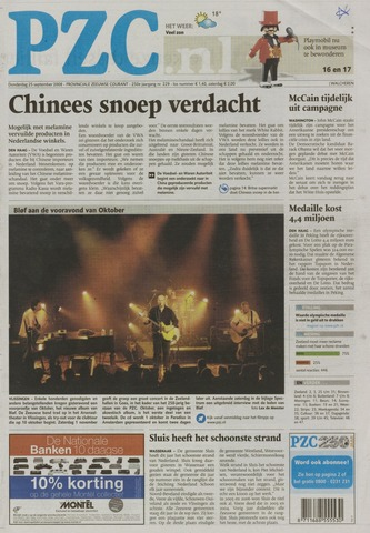 Provinciale Zeeuwse Courant 2008-09-25