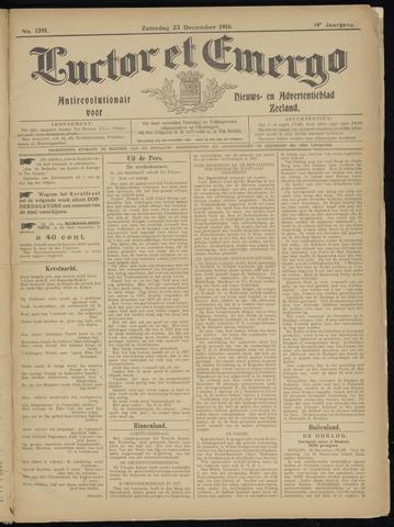 Luctor et Emergo. Antirevolutionair nieuws- en advertentieblad voor Zeeland / Zeeuwsch-Vlaanderen. Orgaan ter verspreiding van de christelijke beginselen in Zeeuwsch-Vlaanderen 1916-12-23