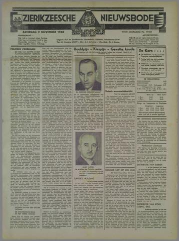 Zierikzeesche Nieuwsbode 1940-11-02