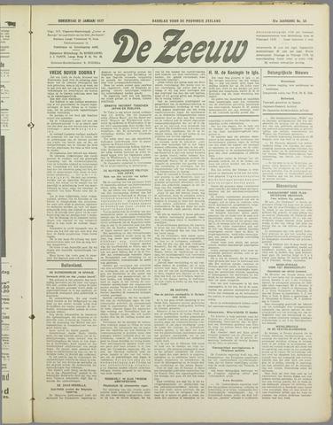 De Zeeuw. Christelijk-historisch nieuwsblad voor Zeeland 1937-01-21