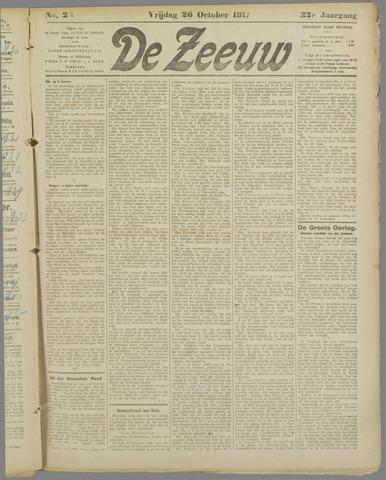De Zeeuw. Christelijk-historisch nieuwsblad voor Zeeland 1917-10-26