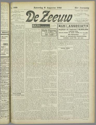 De Zeeuw. Christelijk-historisch nieuwsblad voor Zeeland 1921-08-06