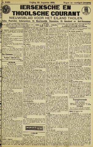 Ierseksche en Thoolsche Courant 1931-08-21