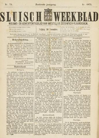 Sluisch Weekblad. Nieuws- en advertentieblad voor Westelijk Zeeuwsch-Vlaanderen 1875-12-10